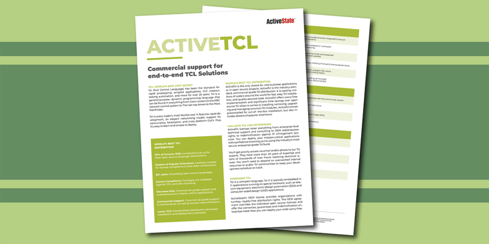 ActiveTcl: Leading Tcl Distribution