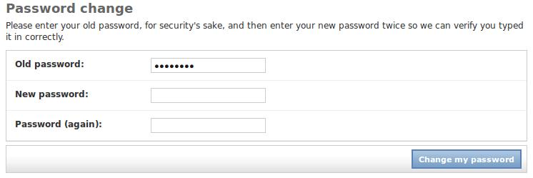Changing the Django Admin Password