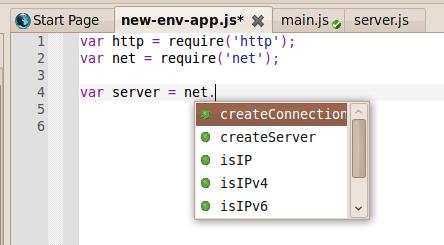Komodo IDE: Node.js Autocomplete