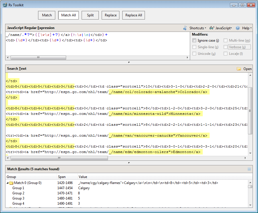 Figure 1: Rx Toolkit Window