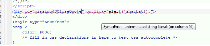 Syntax Error in a JavaScript Handler
