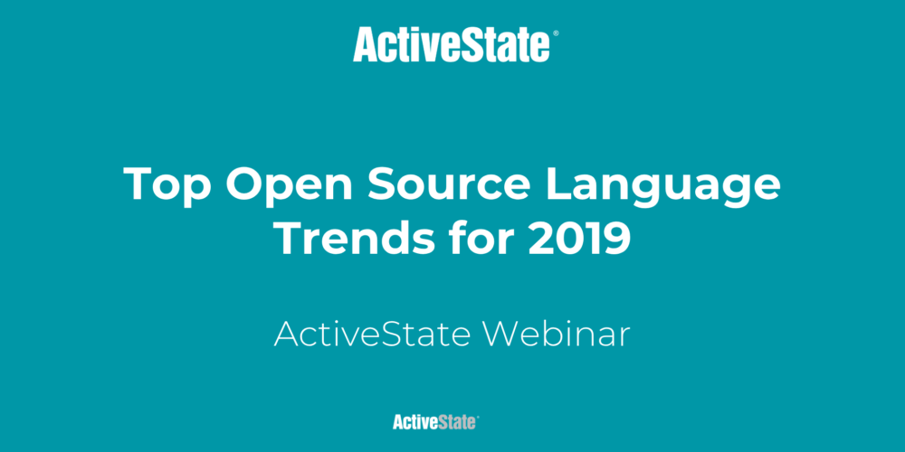 Top Open Source Language Trends for 2019