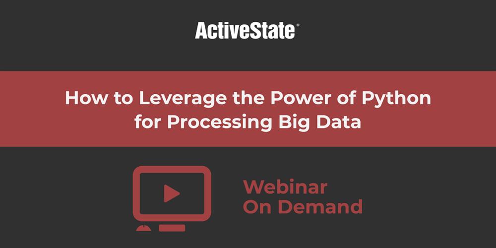 leverage power python procesing big data webinar