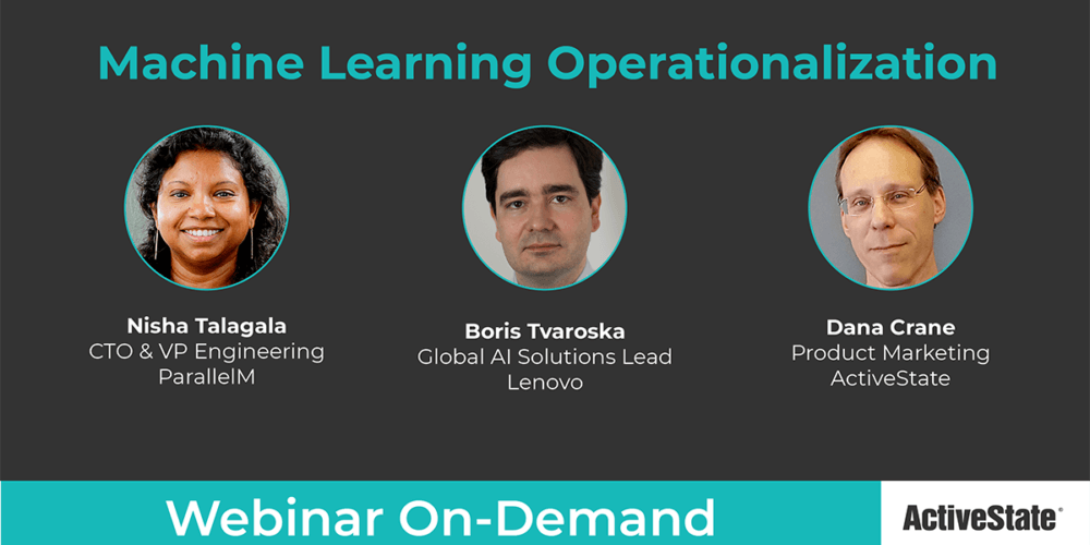 Webinar: Machine Learning Operationalization (MLOps)