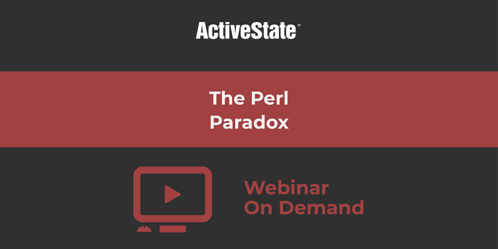 Webinar: The Perl Paradox