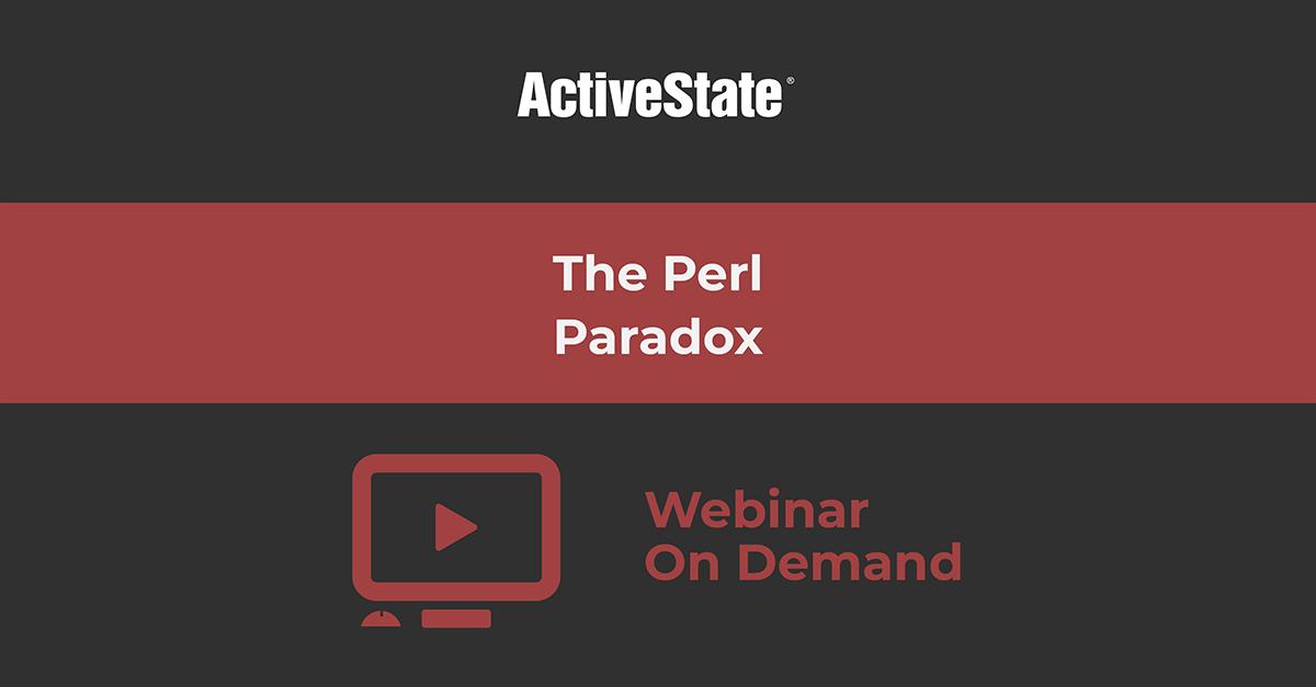 Webinar: The Perl Paradox