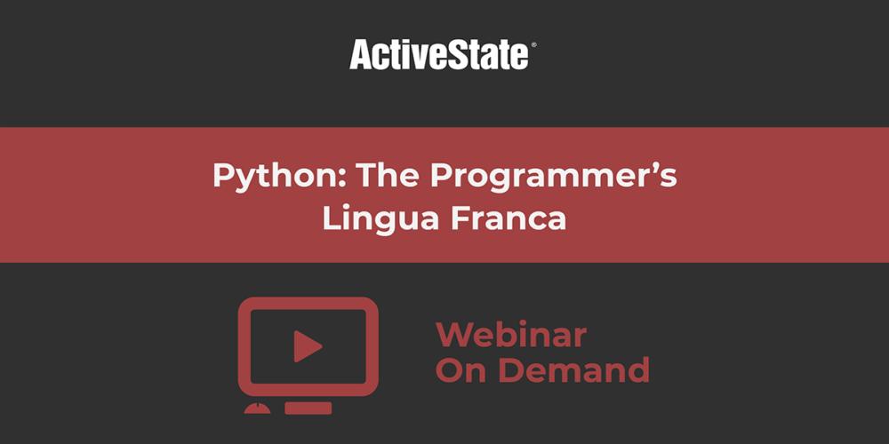 python programmers lingua franca webinar