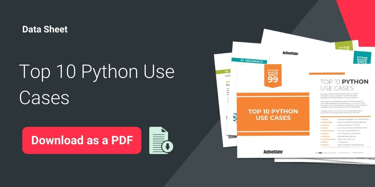 Top 10 Python Use Cases Datasheet Graphic