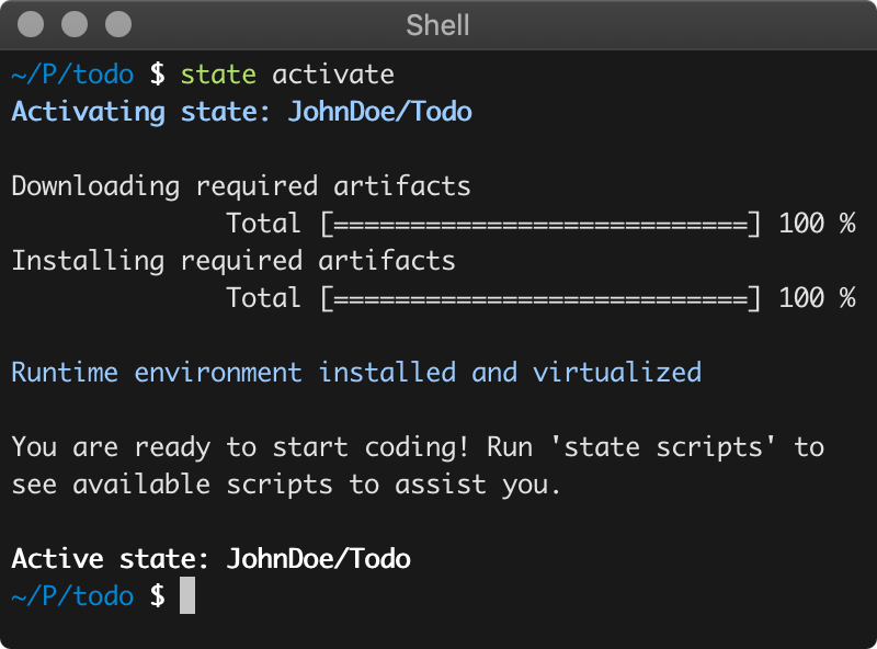 State Tool - Setup your environment with a single command