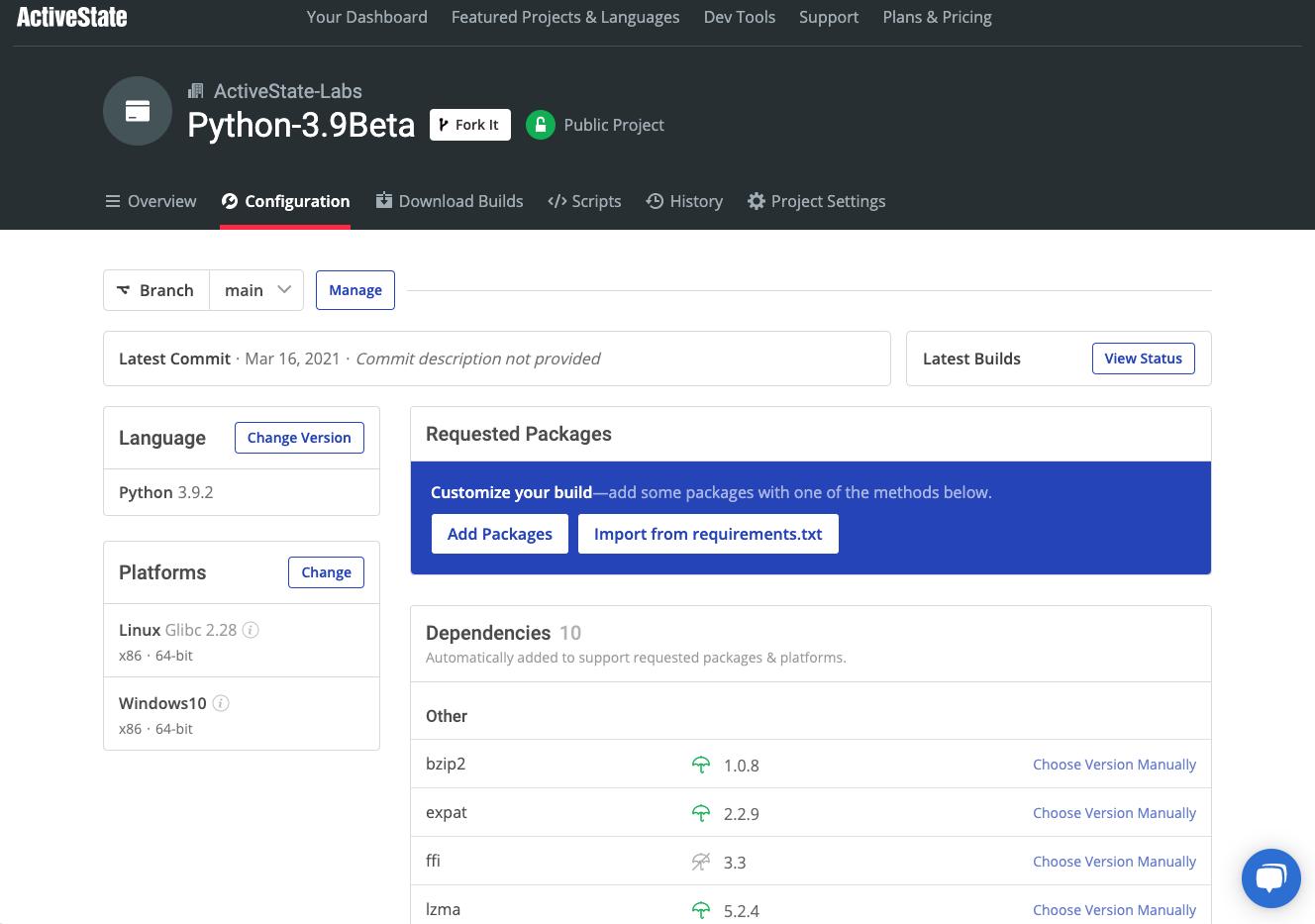 Python 3.9 Web GUI Screenshot