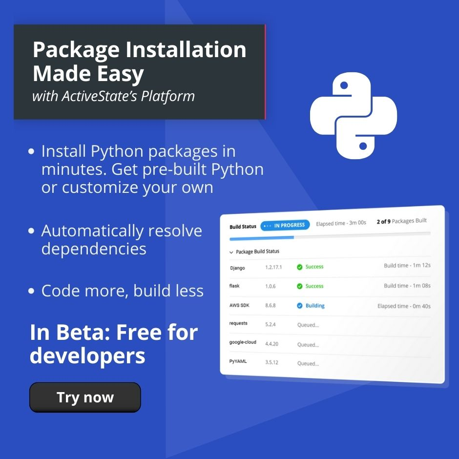 QR Right column ActivePython Ad Package Installation Made Easy
