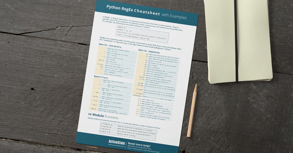 Python RegEx Cheatsheet