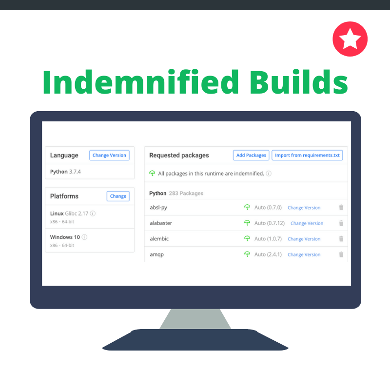 indemnified packages update