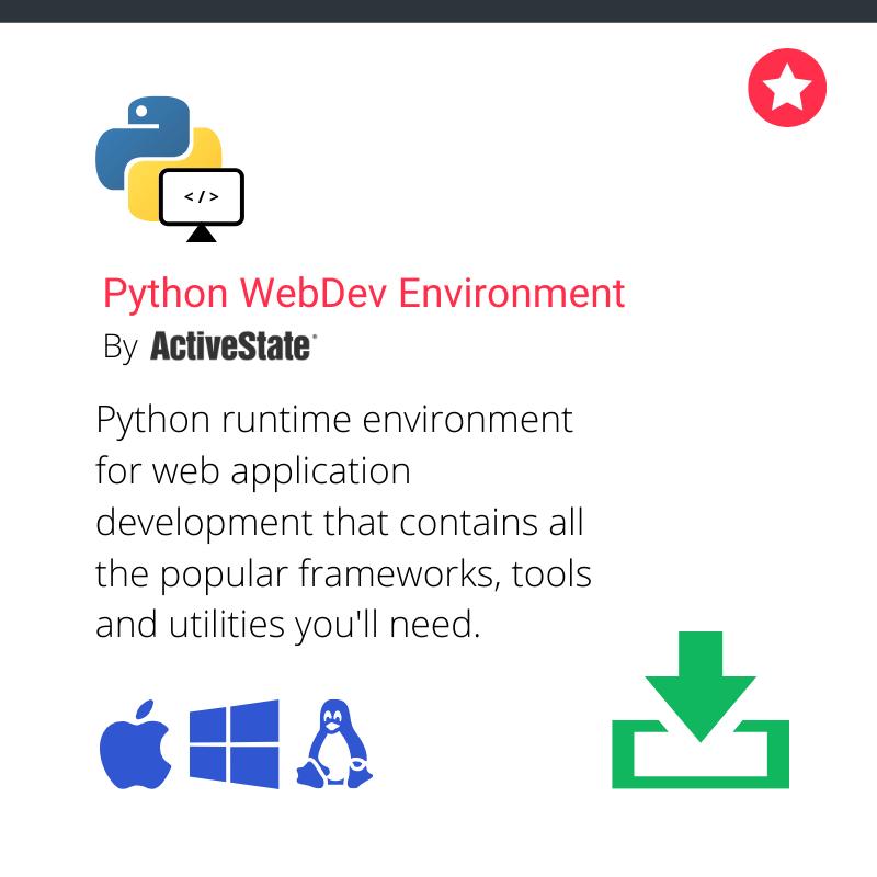 Python web app dev runtime