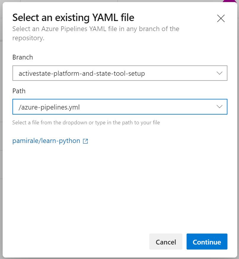 Select YAML file