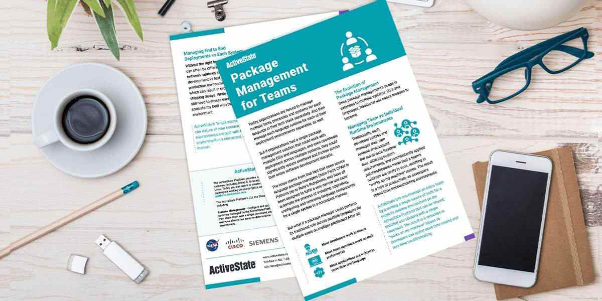 ActiveState's Package Management Solution - Datasheet