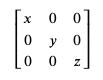 matrix of values