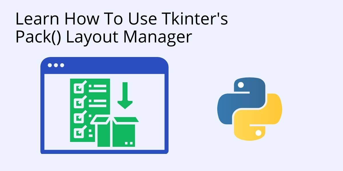 How to use pack in tkinter