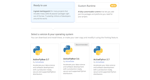 Ready To Use ActivePython Runtime