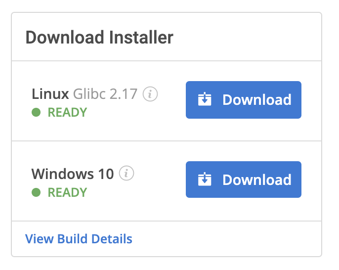 Download Builds for Data Analysis