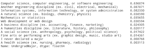 University Grad Responses
