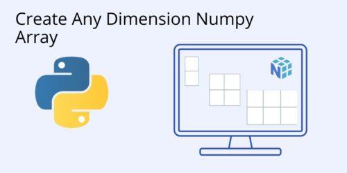 How to build a numpy array