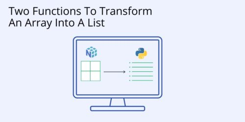 How to turn an array into a list
