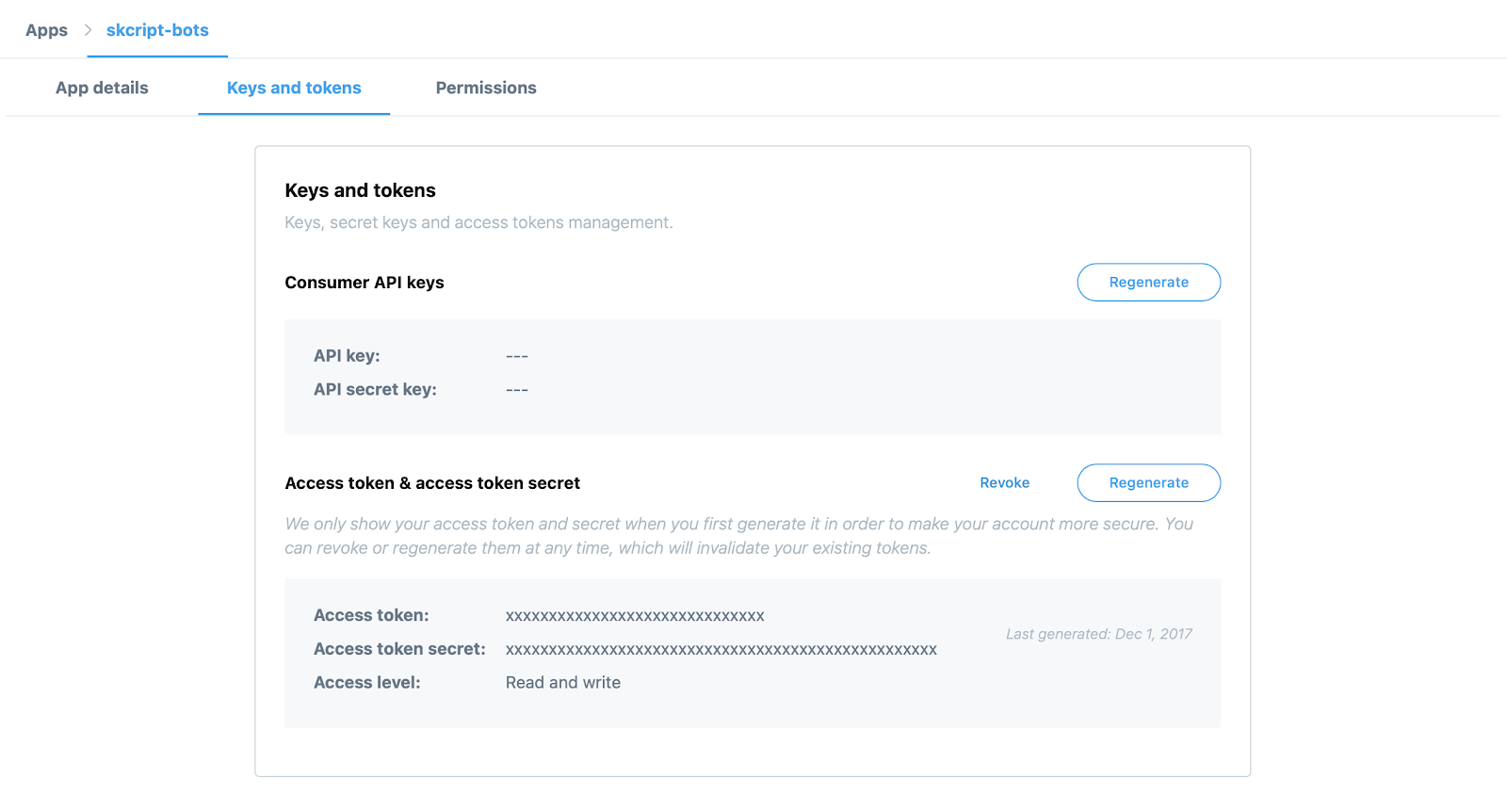 Twitter Keys - Python Automation