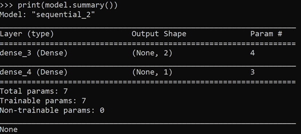 Simple Model Output