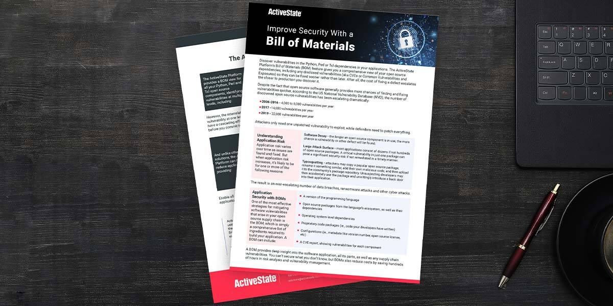 improve security with a bill of materials