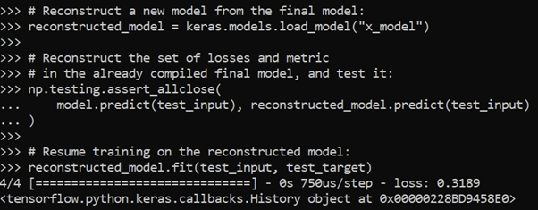 reconstructed model predict