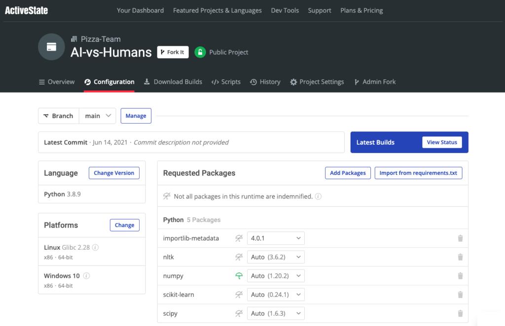 AI vs Humans Runtime