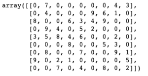 Unsolved Array