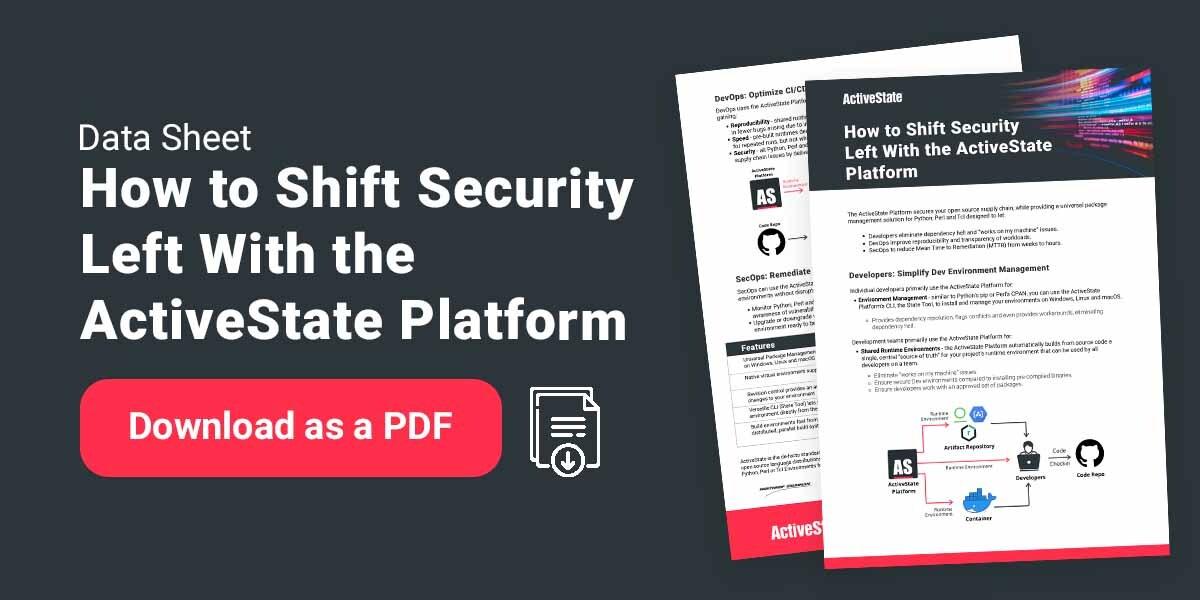 devsecops ActiveState Platform