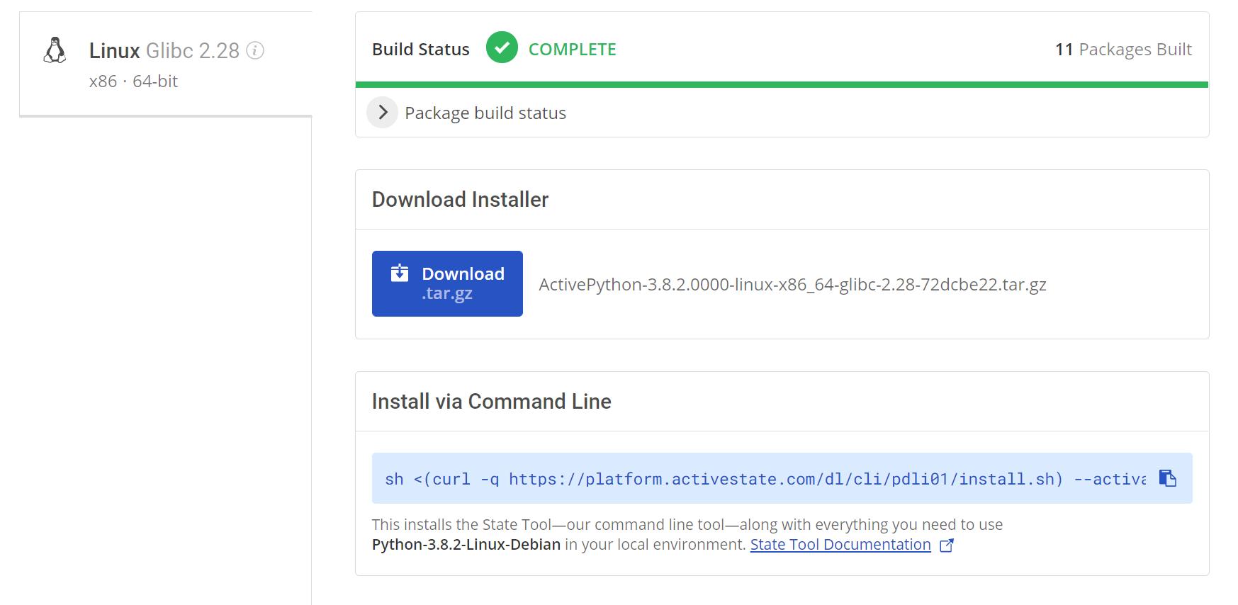 Linux Python Build Platform