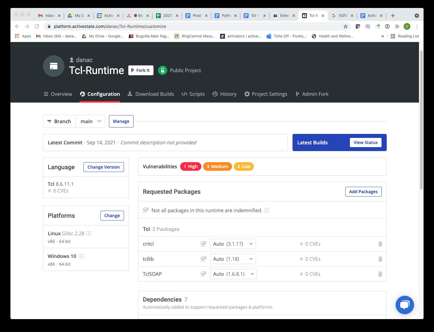 Tcl ActiveState Platform
